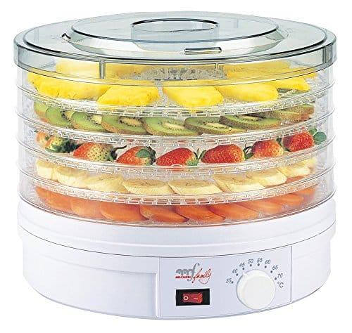 DISIDRATATORE PER ALIMENTI 5 Piani Vassoio Scaffale Asciugatrice MACCHINA frutta verdura Storage preservare