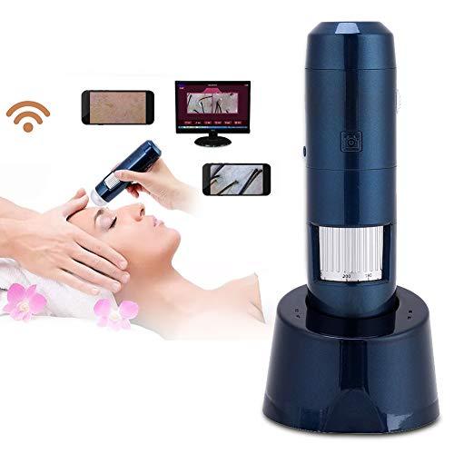 5-200X Wireless Wifi + USB Analizzatore di pelle, rilevatore di capelli cuoio capelluto Microscopio digitale da 200 MP fotocamera HD Pixel Lente d'ingrandimento(110-220V)