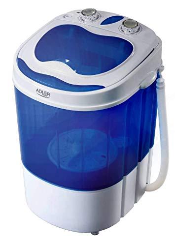 Adler AD 8051 lavatrice Portatile Caricamento dall'alto Blu, Bianco 3 kg
