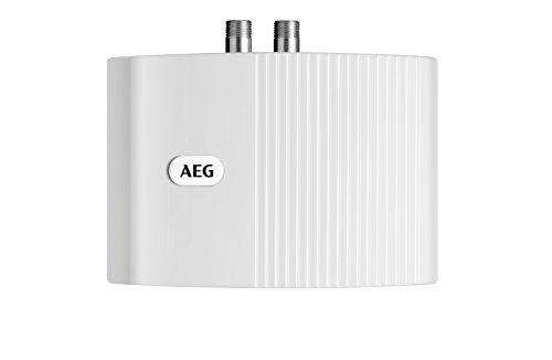 AEG 222120 MTD 350 Scaldabagno piccolo chiuso 3,5 kW, 230 V, colore: Bianco