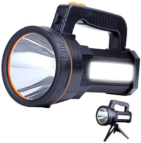 AF-WAN Torcia LED Ricaricabile 7000 Lu ,Impermeabile Luce LED Torcia 9000 mAh Super LED Luminoso Searchlight Spotlight Torcia Portatile Tattica Lampada [Classe di efficienza energetica A]