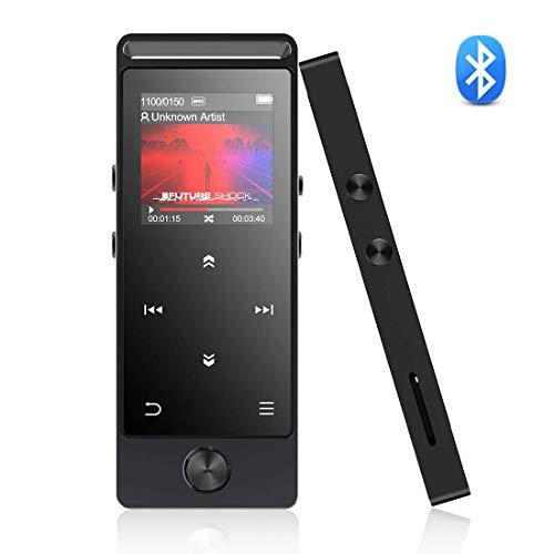AGPTEK Lettore MP3 Bluetooth 8 GB con HD Schermo a Colori, M30B Digital Audio MP3 Player con Radio FM e Registratore Vocale, Supporto Espandibile Fino a 128GB, Nero