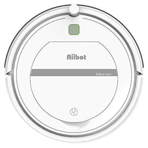 AIIBOT Robot aspirapolvere con sistema di pulizia a 3 stadi, sensore intelligente di arresto delle cadute, filtro HEPA, per appartamenti/casetta/pavimenti duri/tappeti (T288-white)