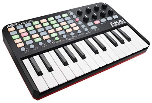 AKAI Professional APC Key 25 - Tastiera Controller MIDI USB per Ableton Live con Griglia di Pad RGB per Clip e Tastiera + VIP 3 e Pacchetto di Software Inclusi
