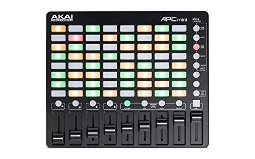 AKAI Professional APC Mini, Controller MIDI USB per Ableton Live con 64 Pad RGB per Clip e 9 Fader e Ableton Live Lite, Hybrid 3, Pacchetto di Samples e Loop, Campioni Capsun ProAudio