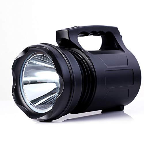 Alflash - Torcia tascabile da esterno, super luminosa, ricaricabile, 10000 lumen, 15000 mAh, impermeabile, potente, 2 pezzi