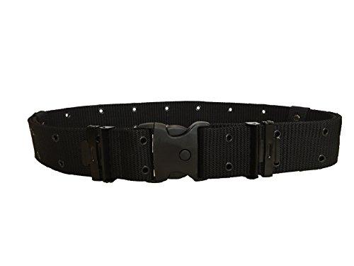 ALGI Cinturone Tattico H 5,50 cm con Fibbia di Sicurezza Nero (L/XL)