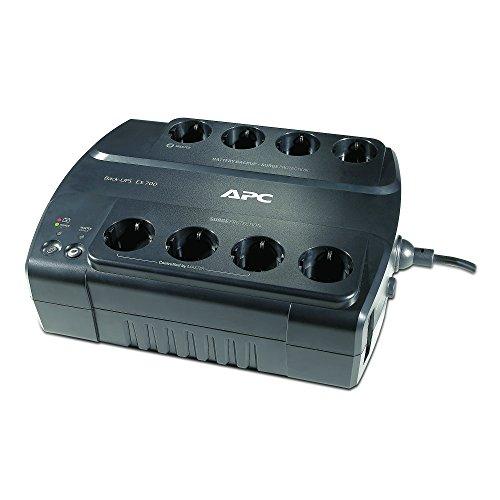 APC by Schneider Electric Back-UPS ES 700 Gruppo di Continuità UPS, 700 VA con Risparmio Energetico, 8 Uscite, Schuko/CEI 23/16