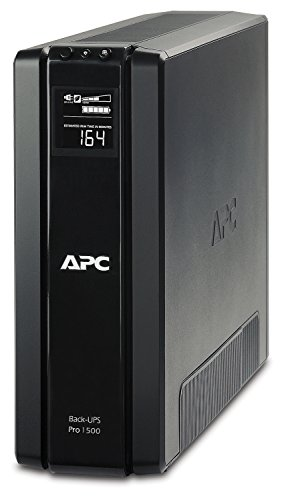 APC by Schneider Electric BR1500G-GR Gruppo di Continuità UPS, 1500 VA, AVR, 6 Uscite Schuko, USB, Shutdown Software, Risparmio Energetico