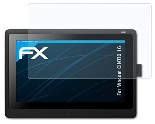 atFoliX Schutzfolie kompatibel mit Wacom CINTIQ 16 Folie, ultraklare FX Displayschutzfolie (2X)