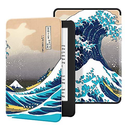Ayotu Custodia in Pelle per Kindle 2019 - Case Cover con Sonno/Sveglia la Funzione Compatibile con Amazon Nuovo Kindle (10ª Generazione - Modello 2019),The Surfing in Kanagawa