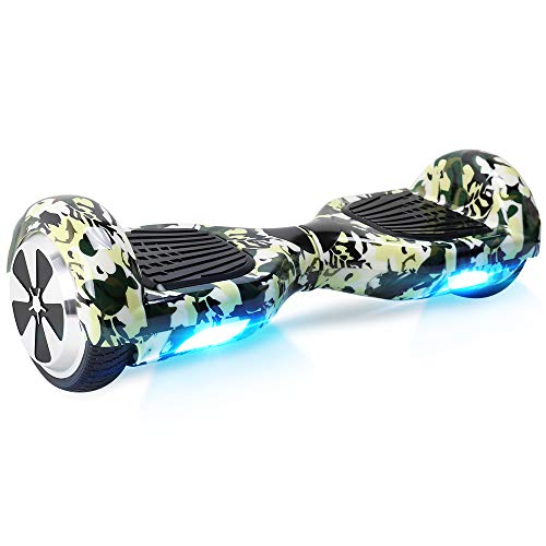 """BEBK Hoverboard 6.5"""" Smart Self Balancing Scooter Elettrico, Oveboard con LED Leggero, Certificazione UL 2272,2 * 250W Motore, E-Balance"""
