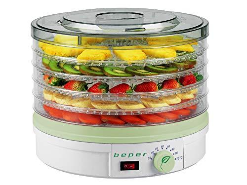 BEPER 90.506 Essiccatore per Frutta e Verdura, 245 W, ABS, Bianco