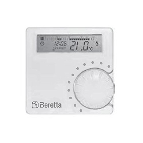 Beretta 20063872 Alpha 7D Cronotermostato Settimanale Digitale, Grigio