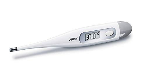 Beurer FT-09-Termometro digitale, cpantalla LCD, colore: bianco