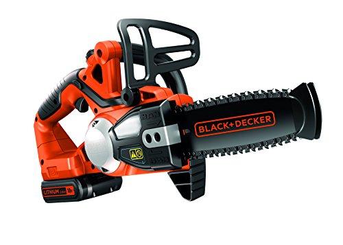 BLACK+DECKER GKC1820L20-QW Elettrosega a Batteria Litio 18V-2.0 Ah, Barra 20 cm