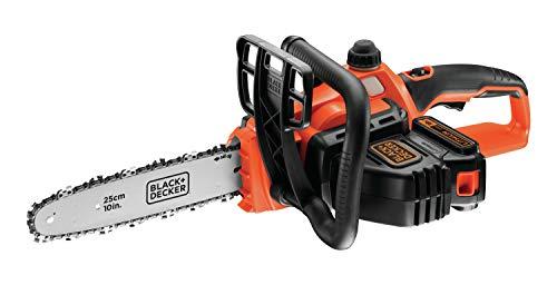 Black+Decker GKC1825L20-QW Elettrosega a Batteria, al Litio, 18 V, 2.0 Ah, Barra 25 cm, Nero/Arancione