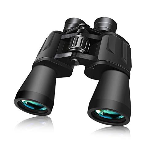 BRIGENIUS 10x50 Binocolo Professionale, Binocoli per Adulti Bambini HD Binocolo Portabile Telescopio con Sacchetto di Trasporto, per Bird-Watching, Attività all'Aperto, Sport stadio, Concerti