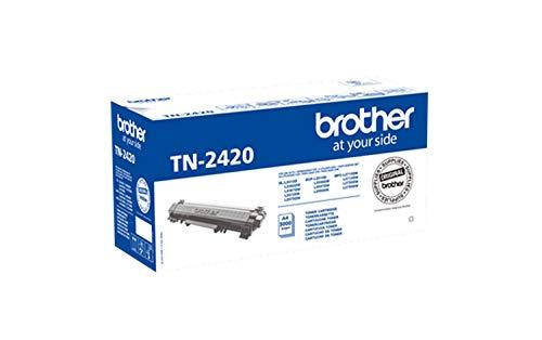 Brother TN2420 Toner Originale Alta Capacità, fino a 3000 Pagine, per Stampanti MFCL2710DW, MFCL2710DN, MFCL2730DW, MFCL2750DW, DCPL2510D, DCPL2550DN, HLL2310D, HLL2350DW, HLL2370DN, HLL2375DW, Nero