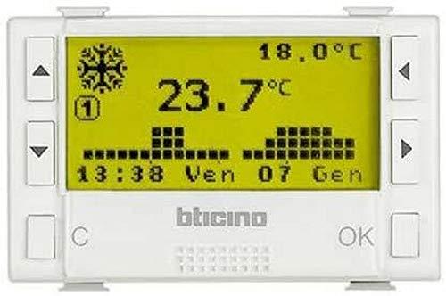 BTicino Matix AM5721 Cronotermostato Giornaliero/Settimanaleper Riscaldamento e Condizionamento