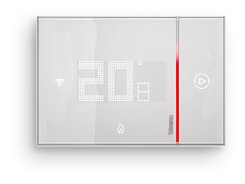 BTicino Smarther SX8000W Termostato Connesso da Muro con Wi-Fi Integrato, 5 - 40 °C, Programmazione a distanza, App iOS/Android, Bianco
