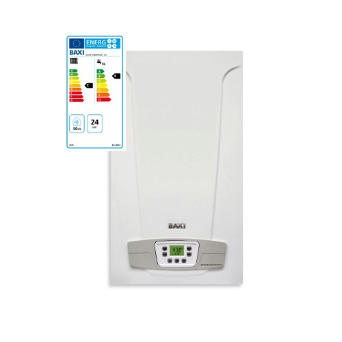 Caldaia a Gas Baxi Eco5 Compact+ 24 kW Erp Camera Aperta Alimentazione Metano