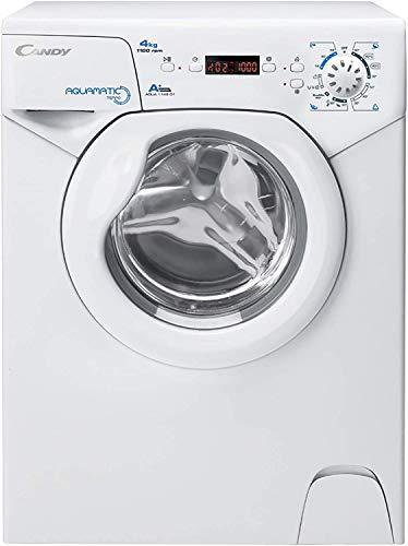 Candy Aqua 1142D1 Lavatrice, 4 kg, 1100 rpm, 69 x 51 x 44 cm, Bianco