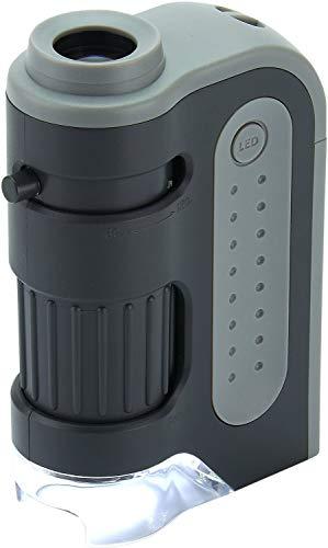 Carson MicroBrite Plus Microscopio tascabile, da 60-120x, con illuminazione LED