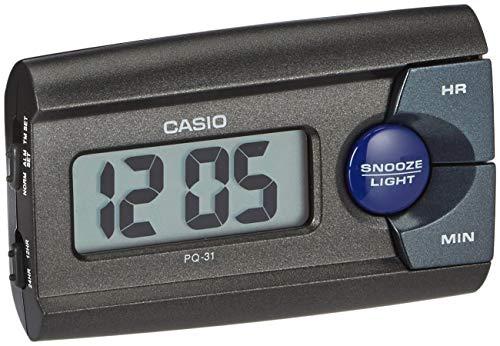 Casio Collection PQ-31-1EF, Sveglia con LED Luce, Nero