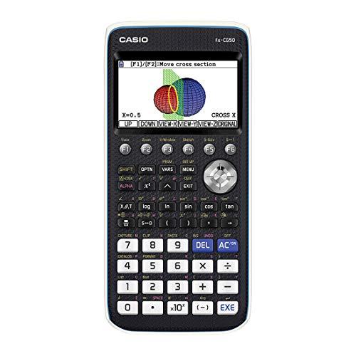 Casio FX-CG50 Calcolatrice Grafica senza CAS con Display a 65.000 Colori, Grafici 3D e Alimentazione a Batteria
