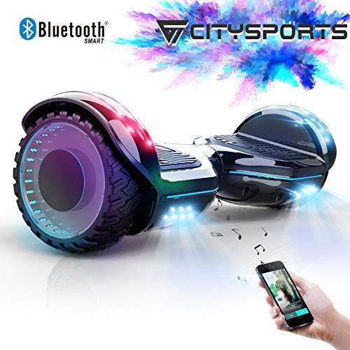 CITYSPORTS Hoverboard 6.5 Pollici, Balance Board Smart Scooter 2x350W con LED