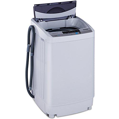 COSTWAY Mini Lavatrice Multifunzione Lavasciuga, Capacità Nominale di Lavaggio: 4,5 kg, Potenza di Lavaggio: 310 W, 85,3 x 50,3 x 50 cm, Grigio
