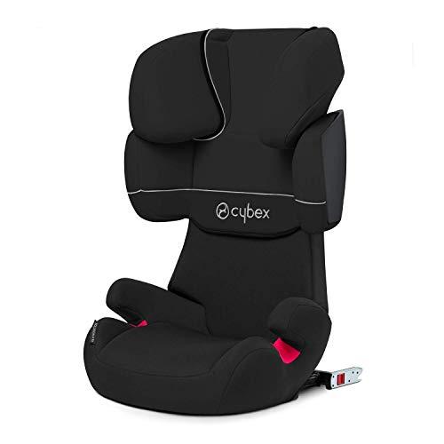 Cybex Silver Solution X-Fix - Seggiolino Auto per Bambini, Gruppo 2/3 (15-36 kg), da 3 Fino a 12 Anni Circa, Per Auto Con e Senza ISOFIX, Nero (Black Pure)