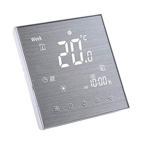 Decdeal Termostato Intelligente WiFi per Caldaia Acqua/Gas - Cronotermostato Smart da Parete,Controllo Vocale,Compatibile con Amazon Echo/Google Home/Tmall Genie/IFTTT,5A AC 95-240V