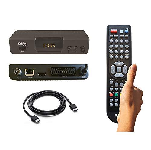 DECODER COBRA DIGITALE TERRESTRE mod. DINGO, FULL HD, PVR, DVB-T2, H.265/HEVC, MEDIAPLAYER, Cavo HDMI, Telecomando con Autoapprendimento