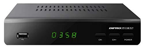 Diprogress Decoder Dvb-T2 Hevc H265 10 Bit con Telecomando Universale 2 in 1 Dpt203Hd