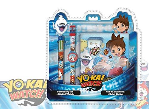 Disney-Yo-Kai Set Orologio Digitale + Penna 6C + Agenda, yk17012