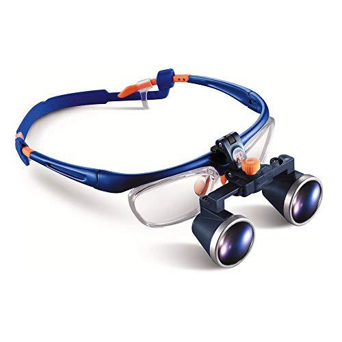 DX.JZ Medico Dentale Chirurgico Lente d'Ingrandimento, 2.5X 420mm Approvato dalla FDA Montatura per Occhiali Binoculare Lente d'Ingrandimento Medica