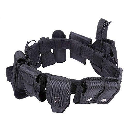 Enjoygoeu Cinturone Tattico Militare di Utilità Attrezzi della Polizia Cinturone Cintura Tattica Regolabile e Rimovibile con Sacchetto per Sicurezza Allenamento all'aperto