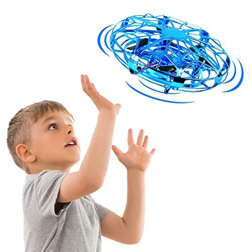 EUTOYZ Regali Regali per Bambine di 3-10 Anni, Giocattoli Volanti per Bambini Palloni Volanti Droni per Bambini Giocattoli da Gioco all'aperto per Ragazze di Ragazzi Giocattoli 3-10 Anni Regali(Blu)