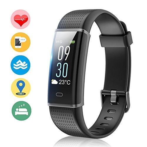 Fitness Tracker Orologio Fitness Impermeabile IP68 Braccialetto Schermo a Colori Cardiofrequenzimetro Polso Contapassi Pedometro Bracciale per Donna Uomo per iPhone Huawei Samsung Android