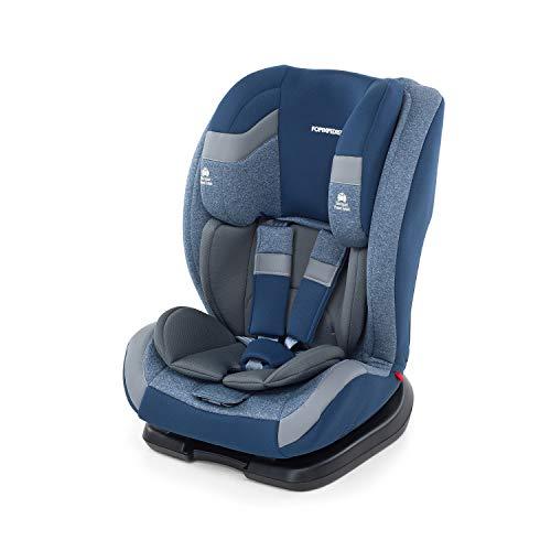 Foppapedretti Re-Klino Seggiolino Auto Senza Isofix, Nero, Gruppo 1/2/3 (9 -36kg), per Bambini da 9 mesi fino a 12 Anni
