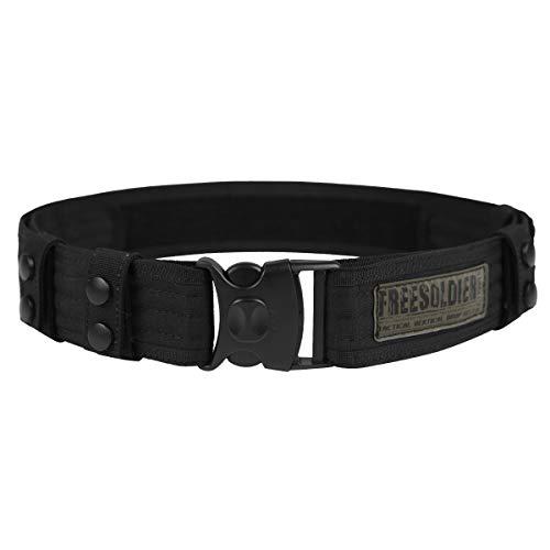FREE SOLDIER Cintura Tattica da Combattimento Cintura Esterna Regolabile Utilità Militare per Equipaggiamento di Polizia per Esercito, Caccia, attività all'aperto,Nero