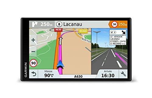 """Garmin Drivesmart 61 EU LMT-S Navigatore 6.95"""" Edge-To-Edge Smart, Mappa Italia Europa Completa, Aggiornamento a Vita e Servizi Live via Bluetooth, App Smartphone Link"""
