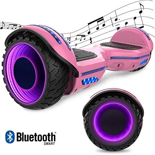 GeekMe 6.5 pollici Monopattino Elettrico Smart Auto bilanciato scooter elettrico con due ruote Board Hover UL 2272 certificato con altoparlante Bluetooth e ruote lampeggianti