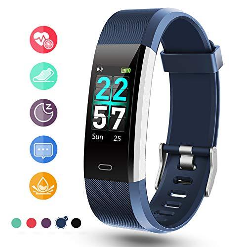 Glymnis Orologio Fitness Fitness Tracker Activity Traker Uomo Donna Impermeabile IP68 Cardiofrequenzimetro da Palso Calorie con 0,96 Pollici Schermo a Colori per iPhone Samsung Huawei