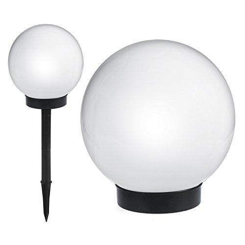Green Blue GB123 Lampada solare a sfera con LED, Bianco, 20x53cm