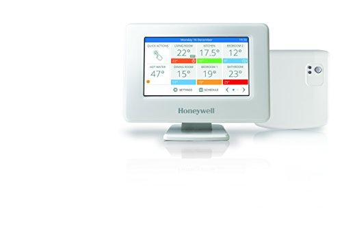 Honeywell Home THR99C3110 evohome Kit termostato Wi-Fi smart con modulo relè wireless per il controllo della caldaia, bianco (2 pezzi), 0 V, 139x101x21mm