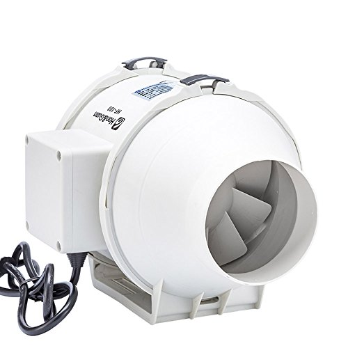 Hon&Guan 100mm Ventola Estrazione Ventilatore del Condotto con 115CFM Sistema di Ventilazione per Bagno , Ufficio , Sala , Hotel