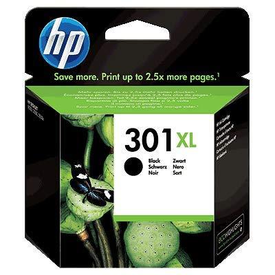 HP 301 XL Nero (CH563EE) Cartuccia Originale per Stampanti HP a Getto di Inchiostro, Compatibile con Stampanti HP DeskJet 1050; 2540 e 3050; HP OfficeJet 2620 e 4630; HP ENVY 4500 e 5530
